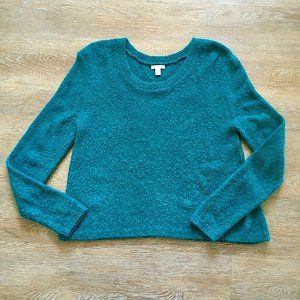 Nordstrom bp pullover crop fuzzy sweater